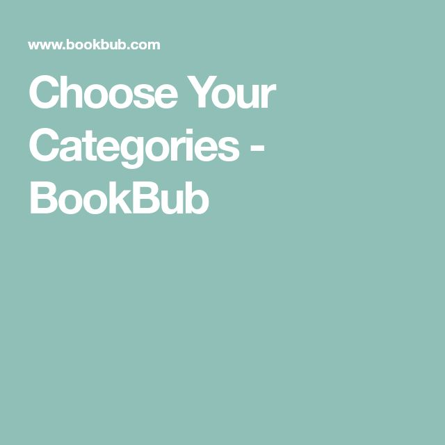 Choose Your Categories - BookBub