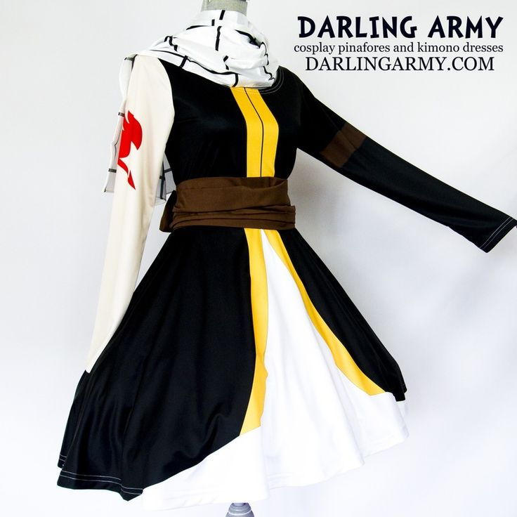 Natsu Dragneel Fairy Tail Cosplay Printed Dress   Darling Army