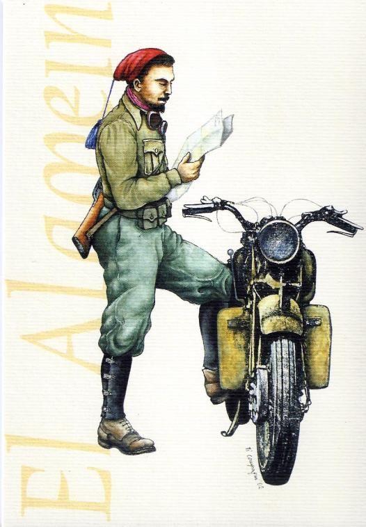 Regio Esercito - Motociclista del 8° Reggimento Bersaglieri, El Alamein 1942