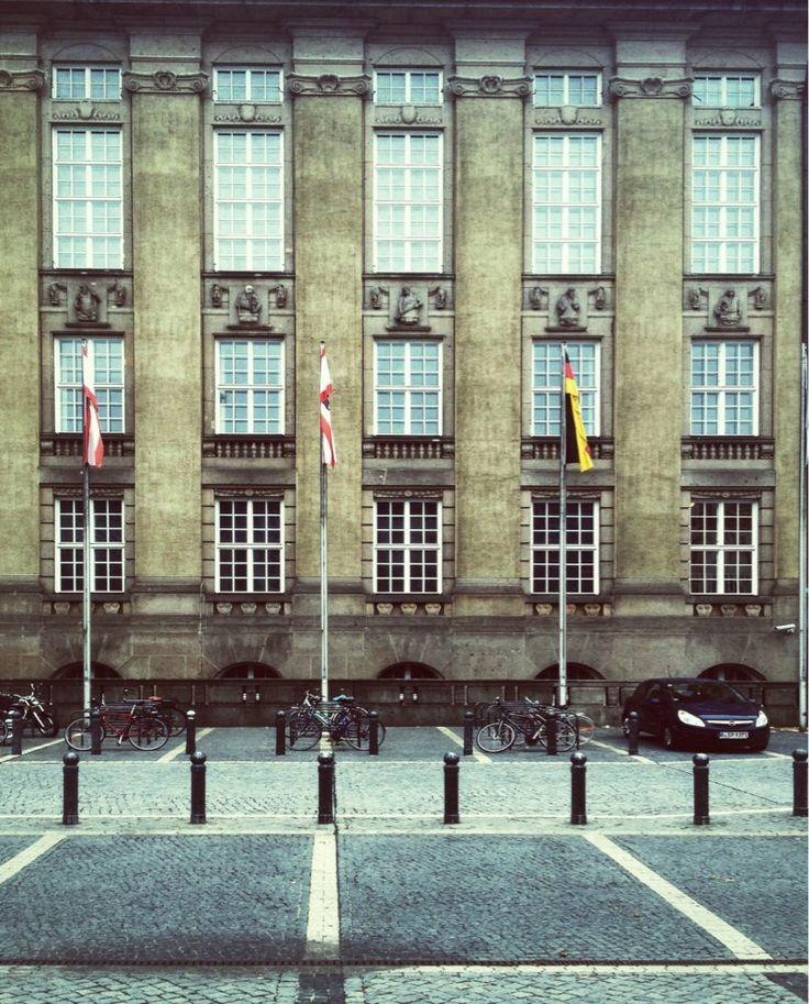 Rathaus Schöneberg - Berlin, Germany. Fassade zum John F. Kennedy Platz