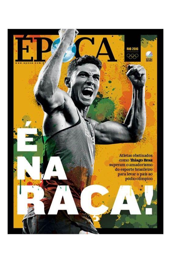 Revista ÉPOCA - capa da edição 949 - É na raça! (Foto: Montagem sobre foto de Kyodo News via Getty Images)