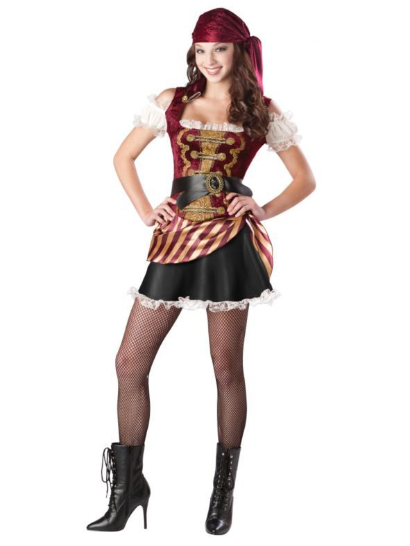 llc pirate babe halloween costume this is a lovely halloween costume the color combination is lovely costume quality is very good