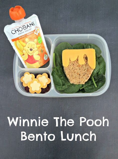 How to make a bento Winnie the Pooh lunch for your kids! #ad