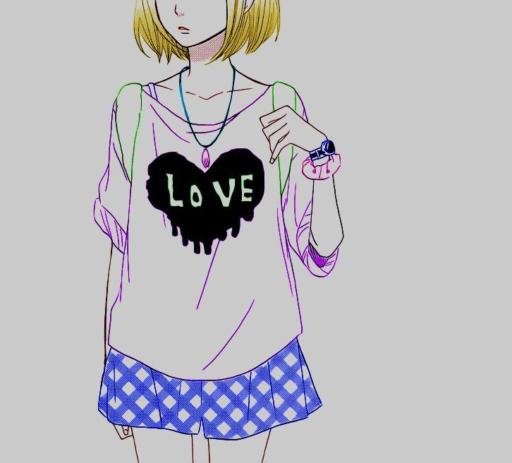 #Animegirl #Love #Coloredbyme #Toukowhitegraphic   Ita: Se la prendi, mettere i crediti.. grazie.  Eng: If you take it, put the credits .. thanks.