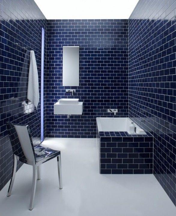 Victoria blue subway tiles
