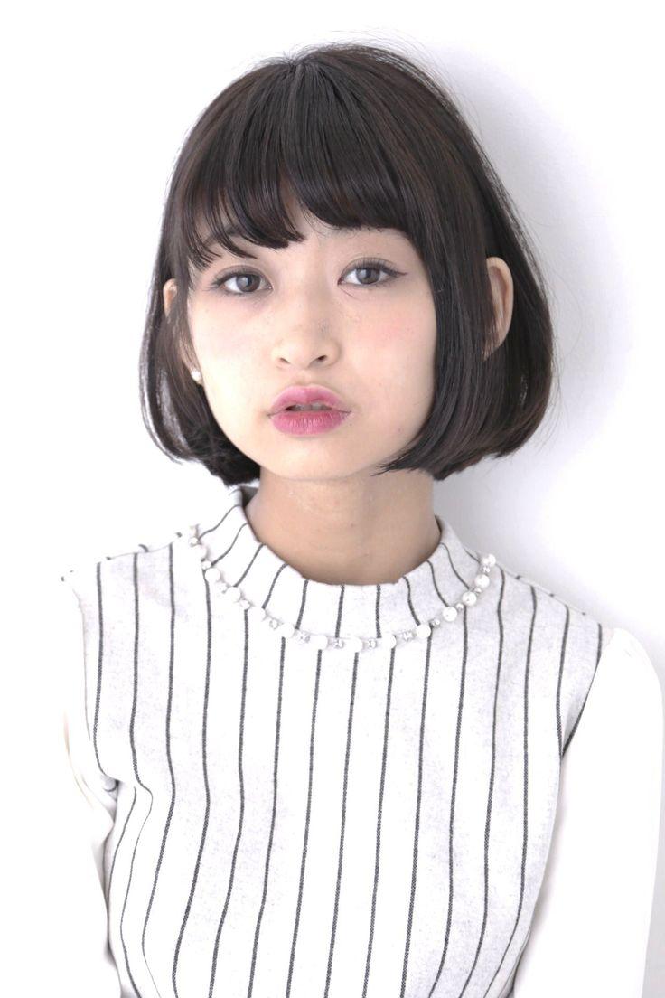 ☆short hair☆yuzo hasegawa(apish)Design 黒髪ナチュラルボブ ハンドブローのみで簡単スタリング 小顔カット(1時間)