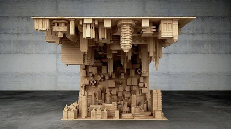 Inception wave city coffee table