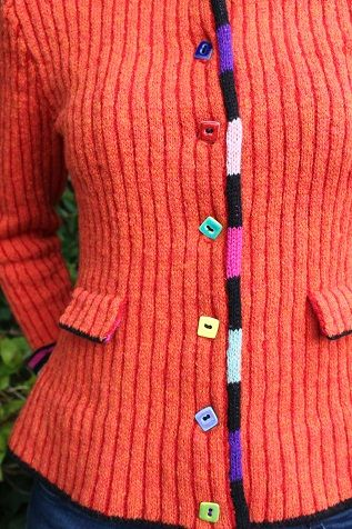 The wormdigger girl's jacket orange and red