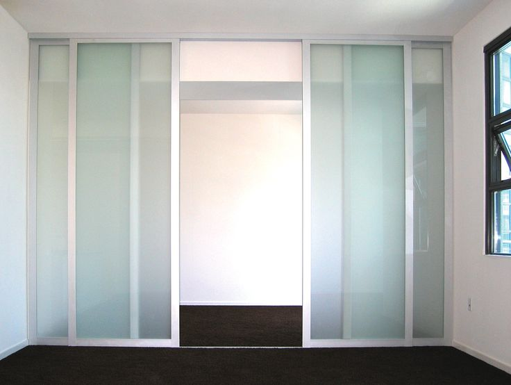 Seeing double? double sliding glass doors easily and attractively divide one room into two!