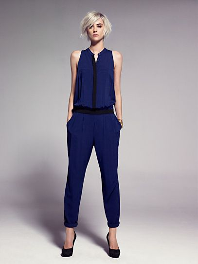 two-tone long jumpsuit