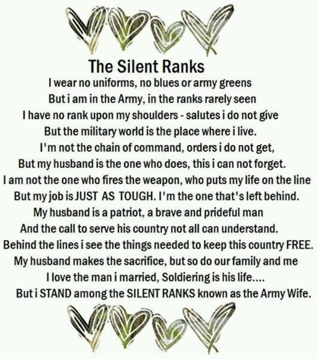 I'm not an army wife, but I love this! I will be someday, though.