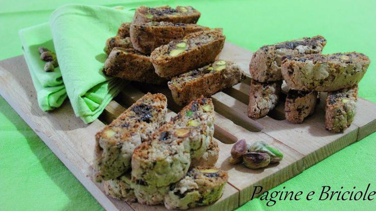 Pagine e Briciole: Cantucci ai pistacchi e cioccolato di Ernst Knam