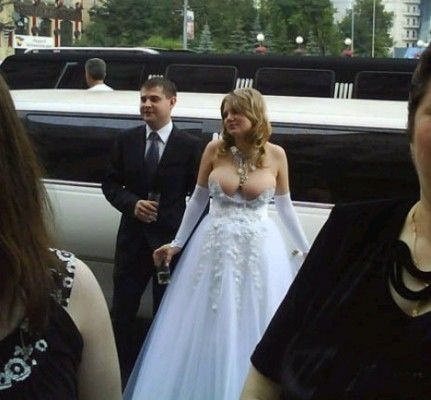 Possibly The Most Inapproriate And Poor Fitting Wedding Dress I Have Ever Seen