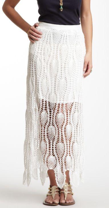 crochet lace skirt