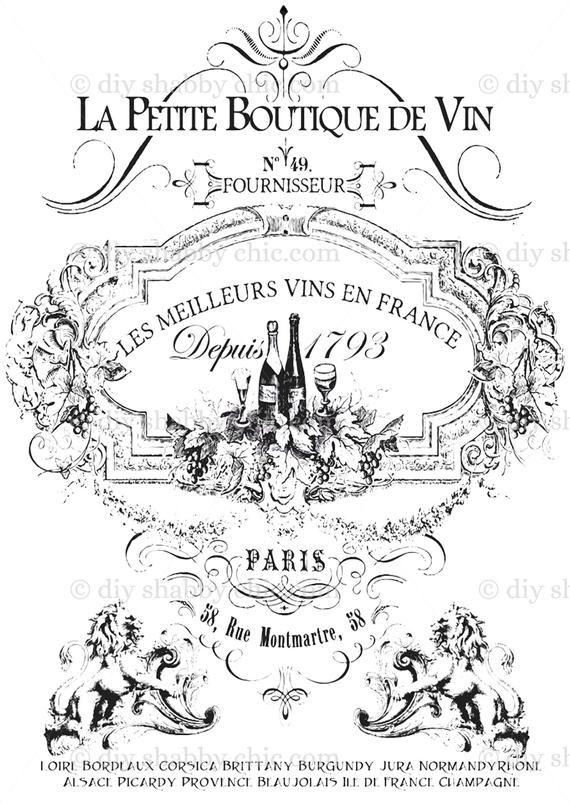 Furniture Decal Image Transfer Vintage Antique French Diy Ol Art Typography Sign