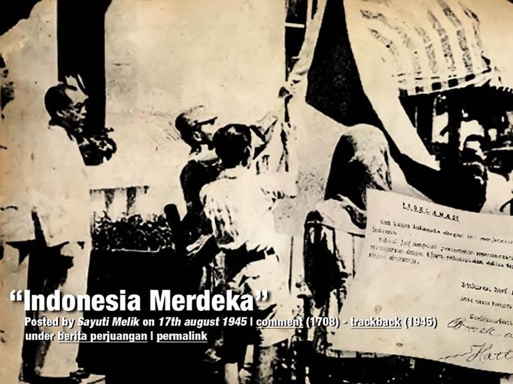proklamasi indonesia merdeka
