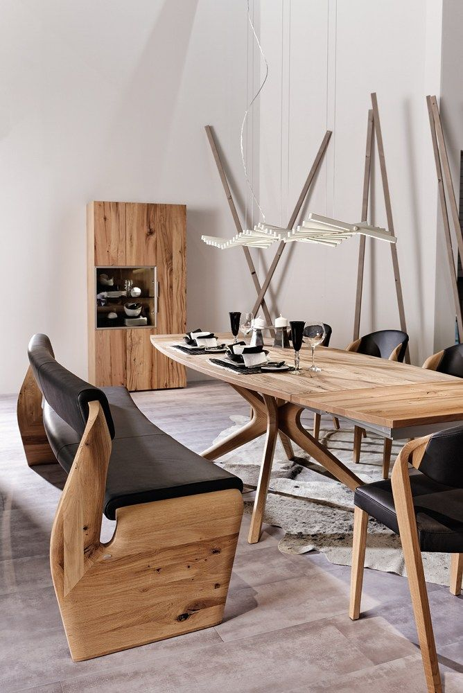 Extending rectangular oak table V-ALPIN | Table - Voglauer
