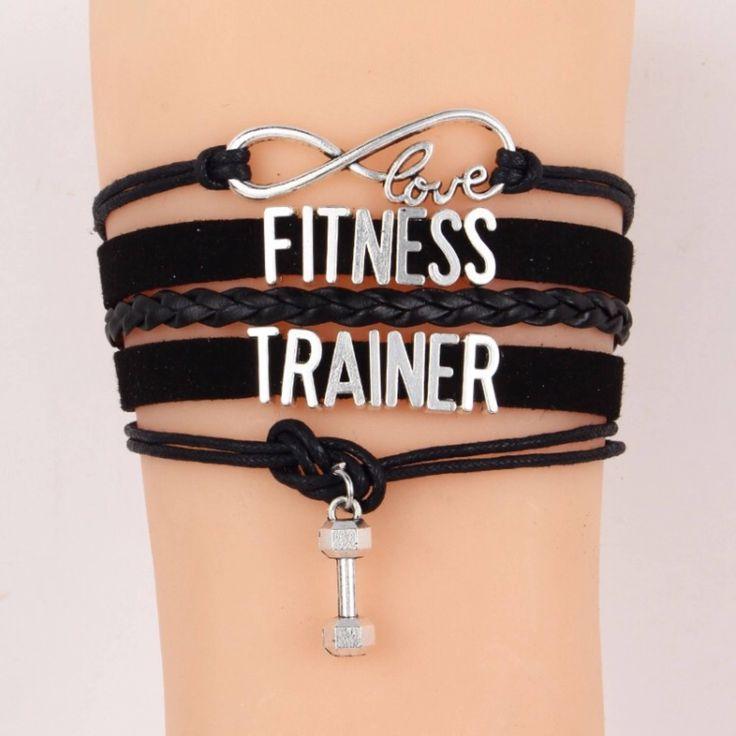Fitness Trainer Bracelet, Multilayered Bracelet, Braided Bracelet, Fitness Jewelry, Fitness Charms, Dumbbell, Gift Ideas, Gifts for Her, by MissFitBoutiqueCA on Etsy https://www.etsy.com/ca/listing/555976679/fitness-trainer-bracelet-multilayered