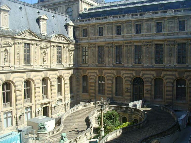 Inside the Louvre courtyard