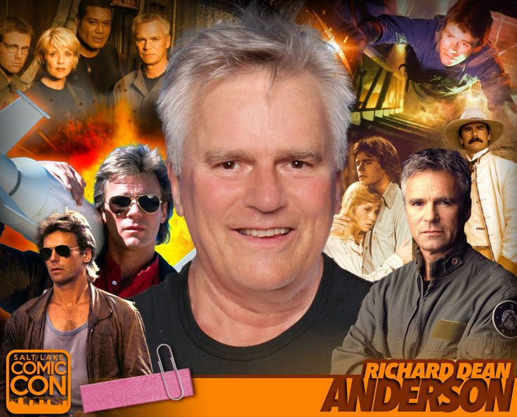 Meet Richard Dean Anderson at #SLCC17! Best known as Angus MacGyver in the hit series MacGyver & Jack O'Neill in Stargate! #utah