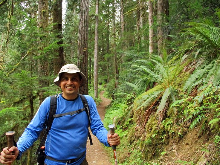 Hector on Thunder Creek Trail in North Cascades National Park