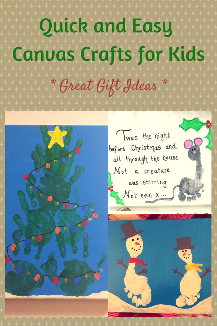 Quick And Easy Canvas Crafts For Kids   Make Great Holiday Presents  #christmas #crafts