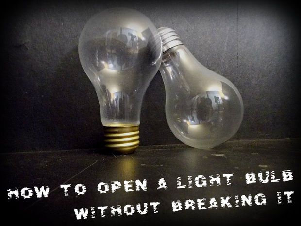 :: INSTRUCTABLES ::  -- How to open a light bulb without breaking it (by Electrospark)