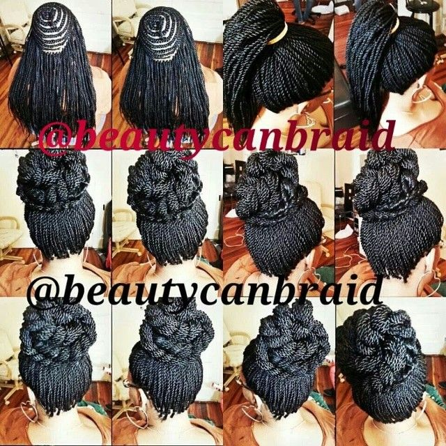 Small Crochet Hair Styles : crochet braids hairstyles Pinterest Protective styles, Box braid ...