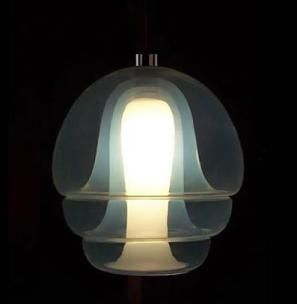 Carlo Nason for Mazzega de Murano, 1969. Light like it came from the bottom of the ocean.