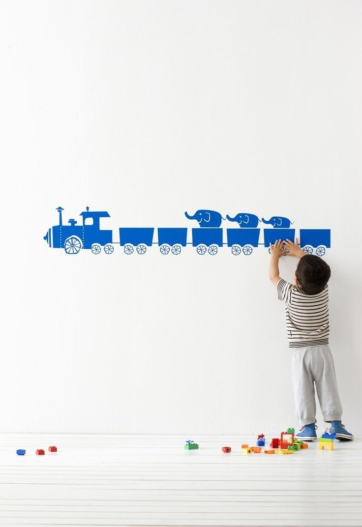 44 best kids images on pinterest children baby room and kidsroom ferm living tiny train wall sticker in blue
