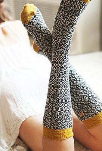 "Always a trendsetter, Janine coined the new snub, ""Talk to the socks."" Sockscribe.me"