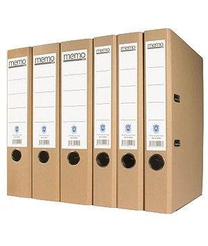 Classeur à levier recyclé naturel A4+ 2 anneaux 28x32cm - Dos de 5cm - Ange Bleu