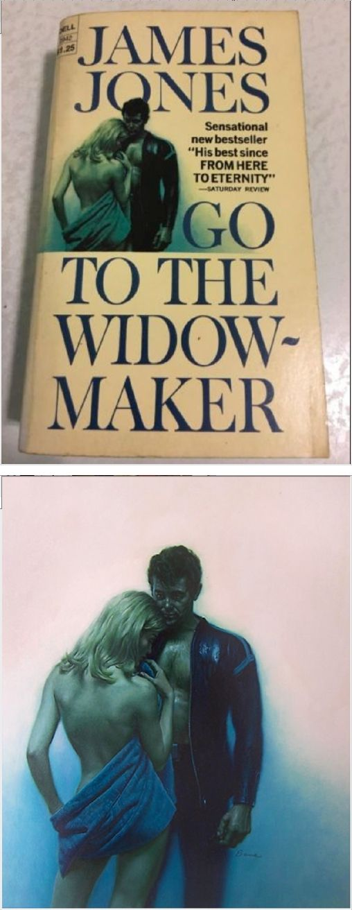 JAMES BAMA - Go To The Widow-Maker by James Jones - 1967 Dell Books - cover by terapeak.com