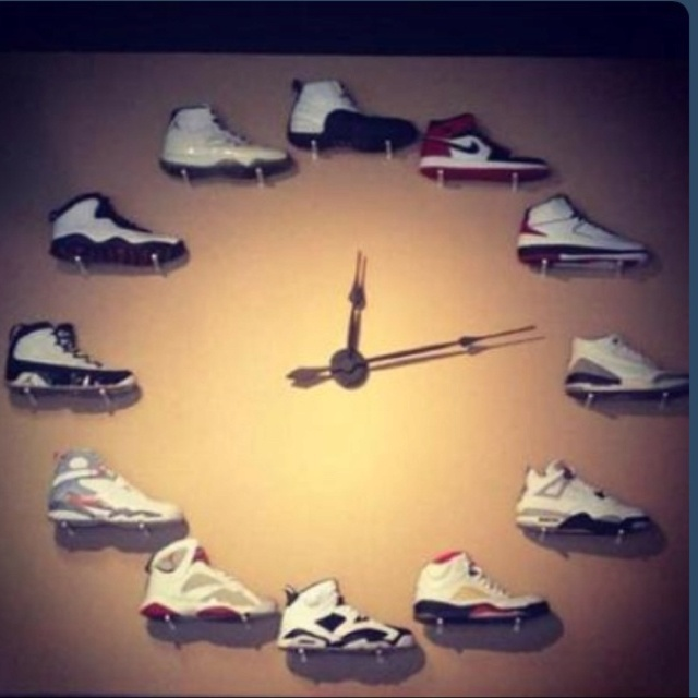 jordan wall clock all jordan for me amp hubby pinterest
