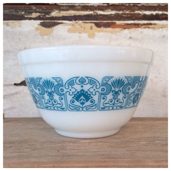 Vintage Pyrex Horizon Blue Mixing Bowl by TheCountryBarrel on Etsy, $10.00