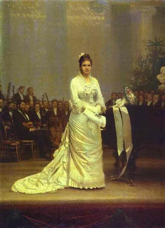 H Εlizaveta Lavrovskaya στη σκηνή.(1878)
