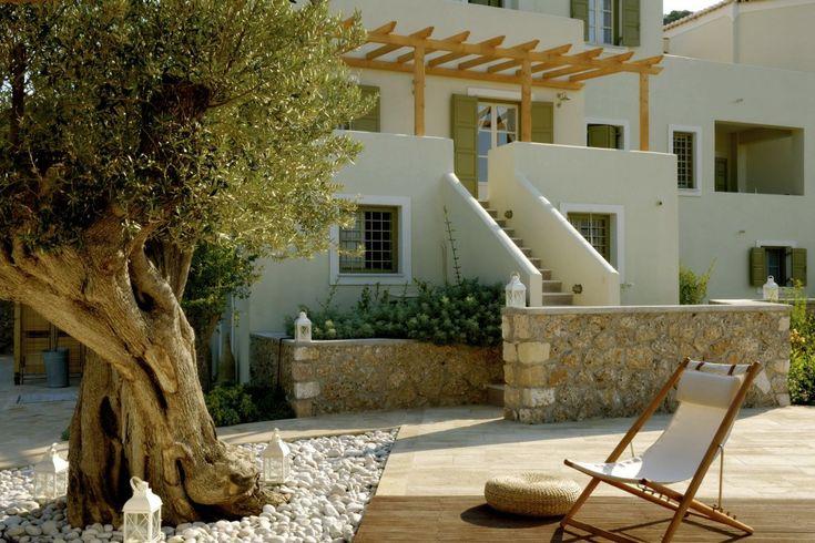 Xenon Estate villas in Spetses - outdoor spaces.  www.xenonestate.gr