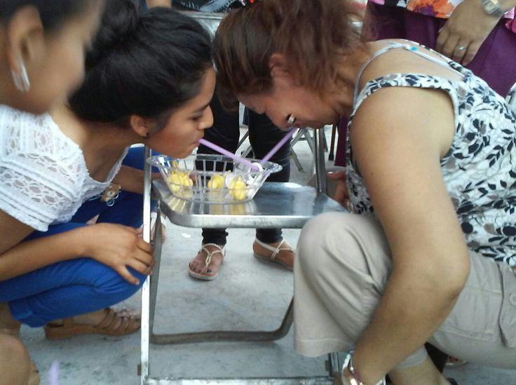 """Juegos para baby shower """"Carrera de chupones"""""""
