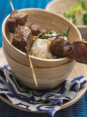#WelshLamb Kebabs with Chinese BBQ Sauce. 256 kcal per serving.