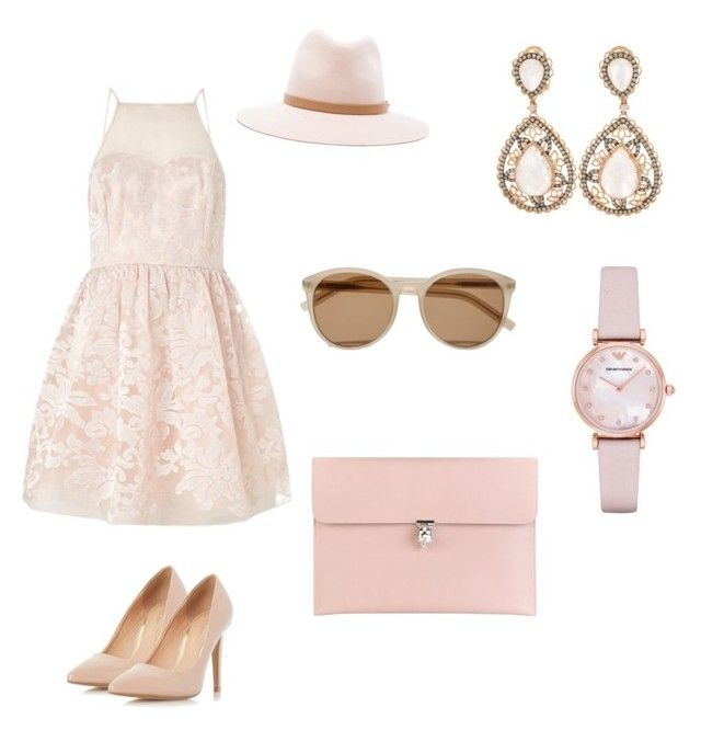 """""""Summer nights"""" by roxi-ruzsa on Polyvore featuring Lipsy, Dorothy Perkins, rag & bone, Yves Saint Laurent, Emporio Armani and Alexander McQueen"""