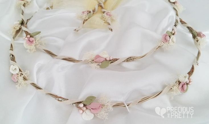 Wedding crowns stefana with lilies 1063