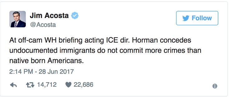 We may now know who the next member of the Trump administration to get the ol' heave-ho will be.  Immigration and Customs Enforcement (ICE) Director Thomas Horman was caught daring to contradict the Twitter-in-Chief. According to CNN reporter Jim Acosta, Homan was asked at an off-camera briefing if immigrants were more likely to commit violent […]