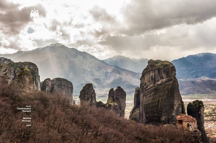 Photo taken by Thanasis Christodoulou. Meteora, Greece. Monasteries. #meteora #cloudy #hill #landscape #photography #greece