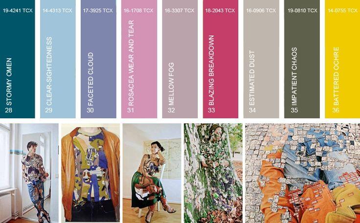 Moda Cartela de cores para estação Primavera/Verão 2017