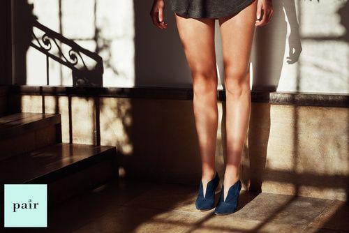 #blue #vcut #suede #stiletto #summer14
