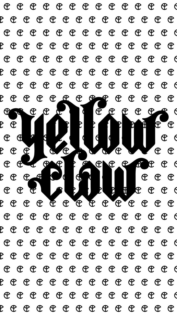 Logo Yellow Claw blanco y negro