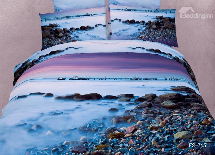 New Arrival Pebbles in the Mist Print 3D Bedding Sets on sale, Buy Retail Price Scenery Bedding Sets at Beddinginn.com