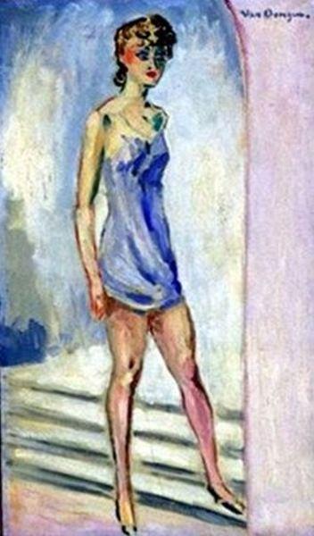 "Kees van Dongen    Dutch      1877 - 1968    ""Portrait of a Young Woman"""