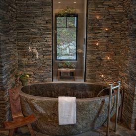 Rustic Bathroom by In Site Designs