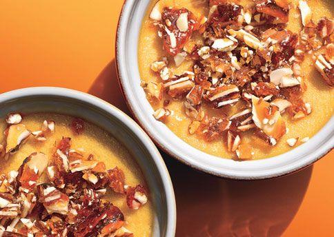 Maple Pots de Crème with Almond Praline | Recipe